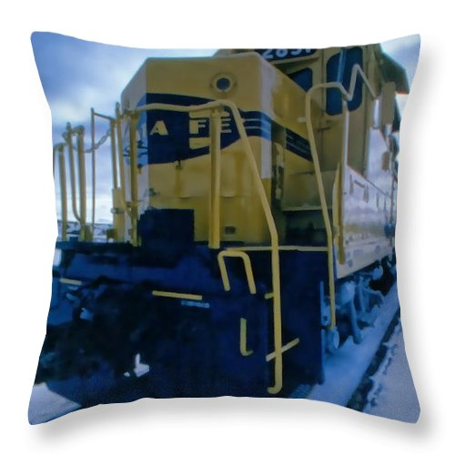 Throw Pillow featuring the photograph Santa Fe 3 by Cathy Anderson