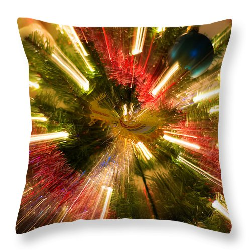 Christmas Throw Pillow featuring the photograph Santa's Ride by Diego Re