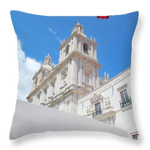 Church Throw Pillow featuring the photograph Sao Vicente De Fora Church In Lisbon by Luis Alvarenga