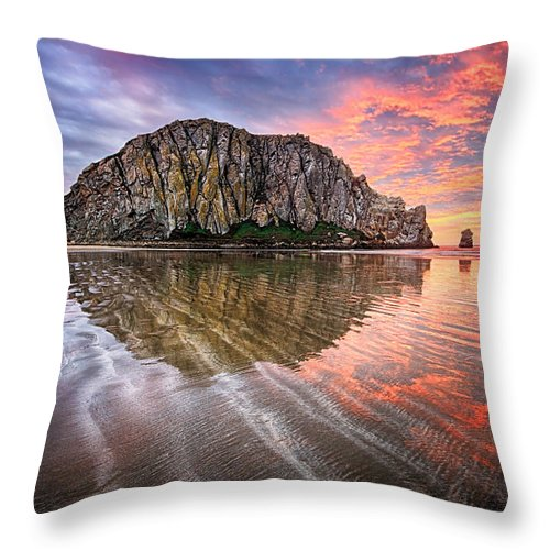 Reflections Throw Pillow featuring the photograph Sapphire Red by Beth Sargent