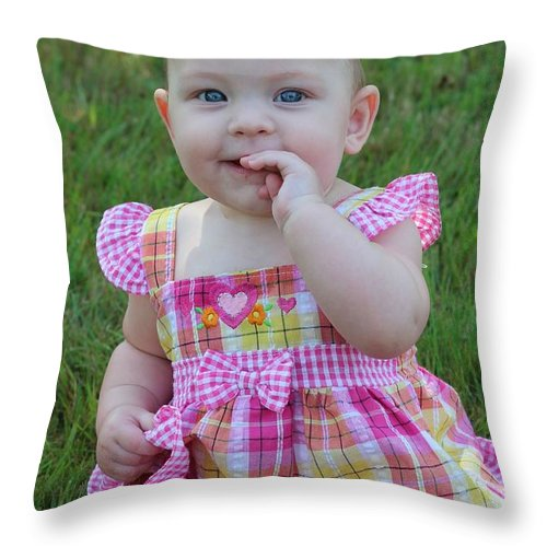 Sarah Throw Pillow featuring the photograph Sarah_3892 by Joseph Marquis