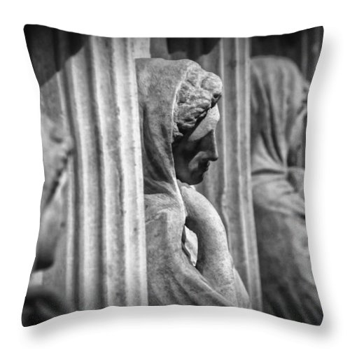 Archaeology Throw Pillow featuring the photograph Sarcophagus Of The Crying Women by Zapista OU