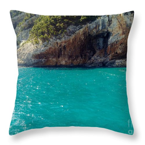 Water Throw Pillow featuring the photograph Sardegna Sea by Ramona Matei