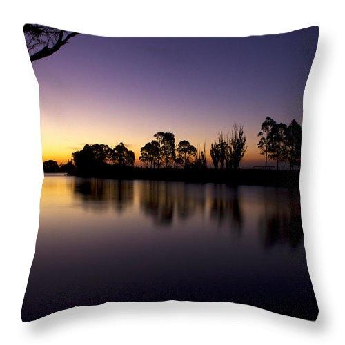 Sardine Flat Throw Pillow featuring the photograph Sardine Flat by Greg McMahon