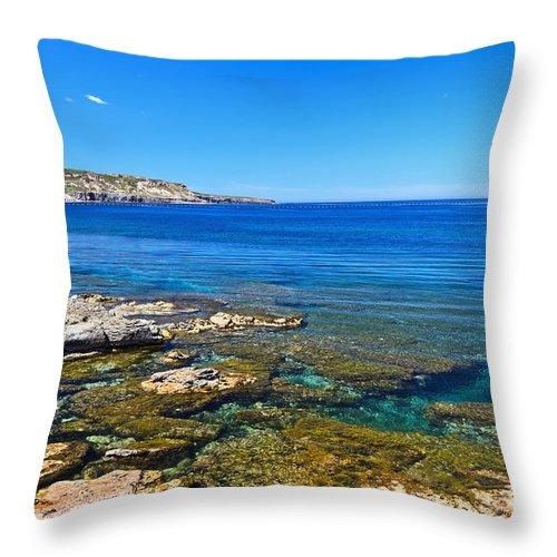 Sardinia Throw Pillow featuring the photograph Sardinia - Shore In San Pietro Island by Antonio Scarpi