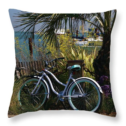 Mandala Throw Pillow featuring the photograph Sausalito Summer by Alicia Kent