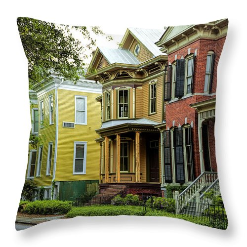 Savannah Throw Pillow featuring the photograph Savannah Architecture by Diana Powell