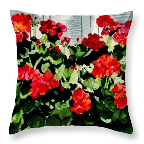 Savannah Throw Pillow featuring the painting Savannah Window Box by Nicole Curreri