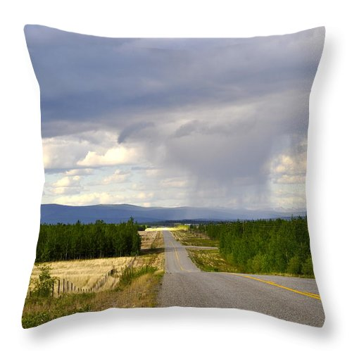Clouds Throw Pillow featuring the photograph Sawmill Creek Road 2 by Cathy Mahnke