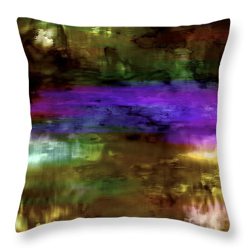 Andscape Throw Pillow featuring the digital art Scenes 3 by Warren Furman