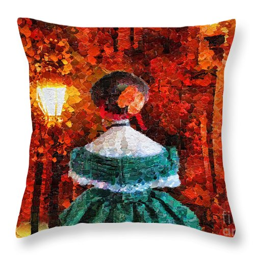 Throw Pillow featuring the painting Victoria by Mo T