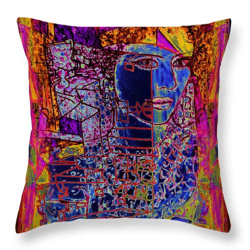 Abstract Woman Throw Pillow featuring the painting Scheherazade by Natalie Holland