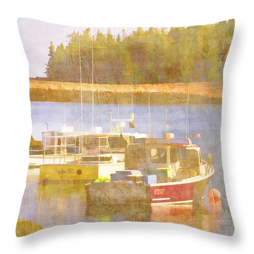 Schoodic Throw Pillow featuring the photograph Schoodic Peninsula Maine by Carol Leigh
