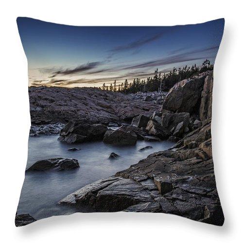 Schoodic Throw Pillow featuring the photograph Schoodic Twilight by Rick Berk