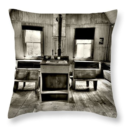 Old Throw Pillow featuring the photograph School Room by Kathleen Struckle