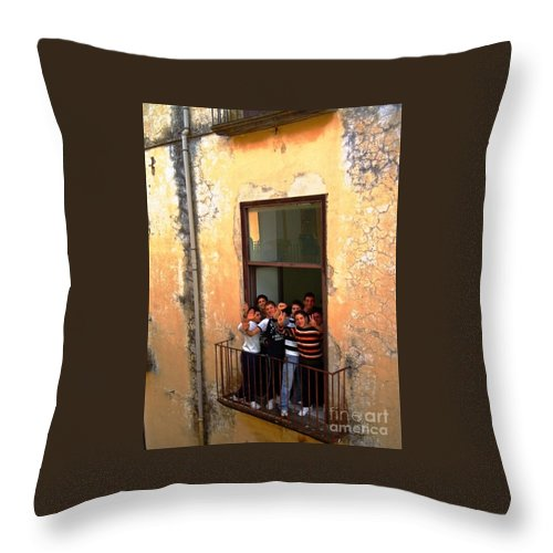 Children Throw Pillow featuring the photograph Schools Out by Phillip Allen