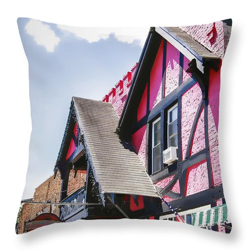 Schroon Throw Pillow featuring the photograph Schroon Lake Shops by Ray Summers Photography