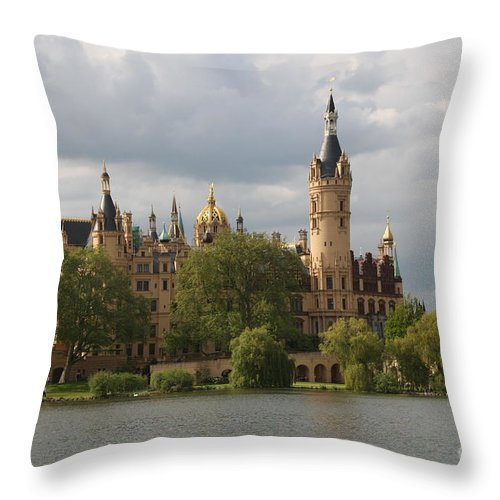 Schwerin Throw Pillow featuring the photograph Schwerin Palace - Germany by Christiane Schulze Art And Photography