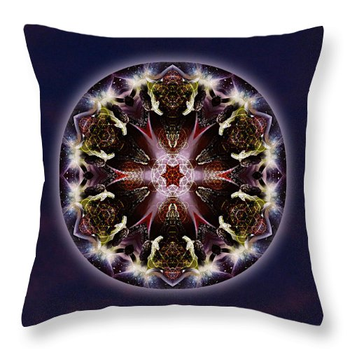 Scorpio Throw Pillow featuring the mixed media Scorpio Moon Warrior by Alicia Kent