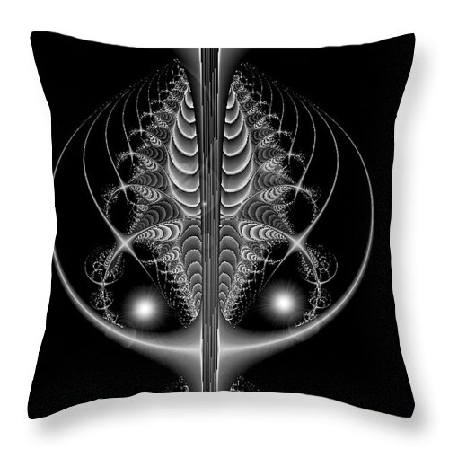 2-dimensional Throw Pillow featuring the digital art Scorp by Dana Haynes
