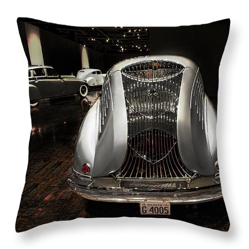 Car Show Throw Pillow featuring the photograph Scrab Sensuous Steel by Michael Rankin