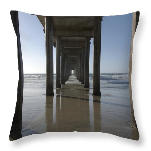 San Diego Throw Pillow featuring the photograph Scripps Pierla Jolla California by Bob Christopher