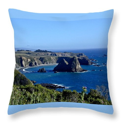 Sea Throw Pillow featuring the photograph Sea Coast Of Northern California by Douglas Barnett