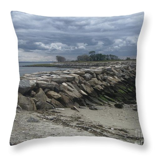 Coast Throw Pillow featuring the photograph Sea Escape by Kristine Nora