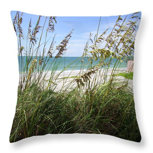 Sea Throw Pillow featuring the photograph Sea Grass by Ginny Schmidt