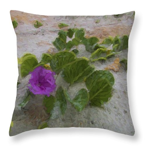 Sea Oats Throw Pillow featuring the photograph Sea Oat Purple by Alice Gipson