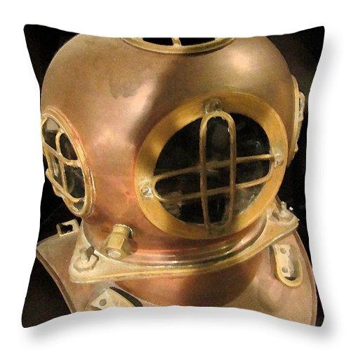 Sea Throw Pillow featuring the photograph Sea - Ocean - Diver by Susan Carella