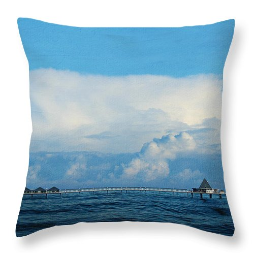Autumn Throw Pillow featuring the photograph Seabridge by Heike Hultsch