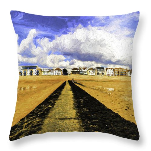 Southend On Sea Throw Pillow featuring the photograph Seafront at Southend on Sea by Sheila Smart Fine Art Photography
