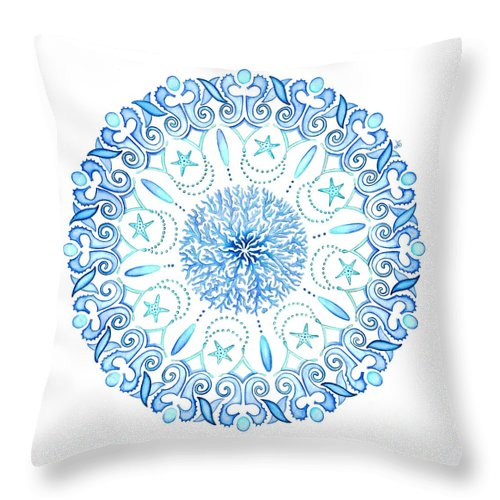 Seahorse Mandala Throw Pillow For Sale By Stephanie Wagg