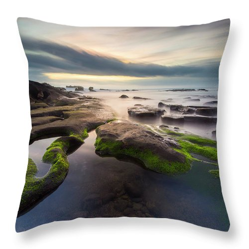Scenics Throw Pillow featuring the photograph Seascape Bali by Www.tonnaja.com