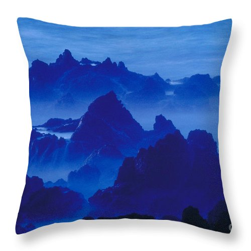 Portugal Throw Pillow featuring the photograph Seascape Near Porto Moniz-portugal by Andy Levin