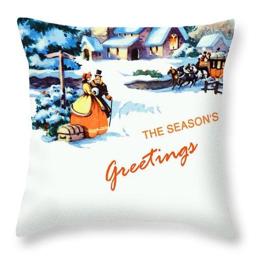 Season Throw Pillow featuring the photograph Season Greetings by Munir Alawi