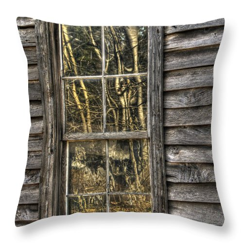 North Carolina Throw Pillow featuring the photograph Seasons Past by Benanne Stiens