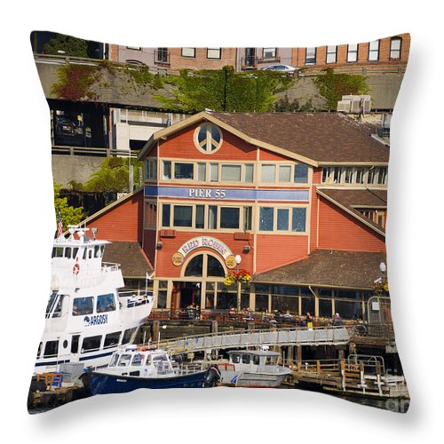 Seattle Throw Pillow featuring the photograph Seattle Waterfront by Brenda Kean