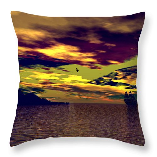 Landscape Throw Pillow featuring the photograph Secret Island by Mark Blauhoefer