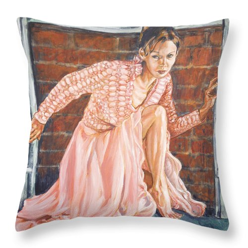 Blonde Throw Pillow featuring the painting Secret Passage by Bryan Bustard