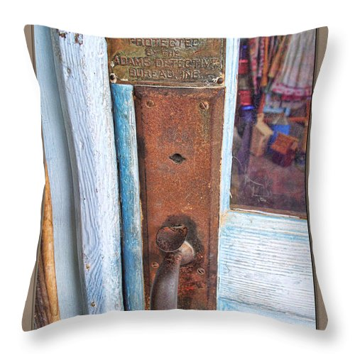 Arcitecture Throw Pillow featuring the photograph Security by Debbie Portwood