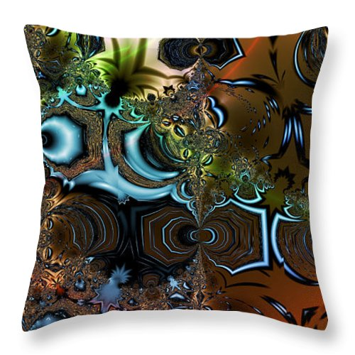 Sediment Throw Pillow featuring the digital art Sedimentary by Kiki Art
