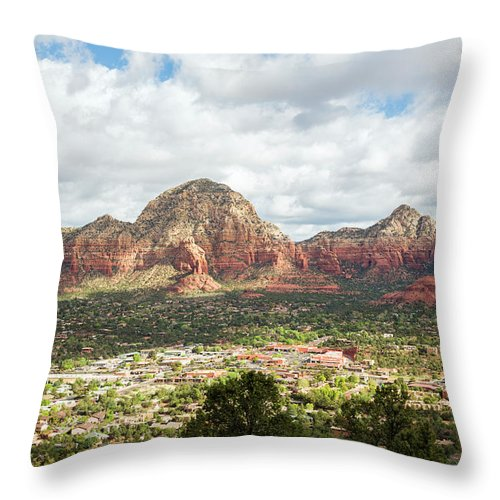 Scenics Throw Pillow featuring the photograph Sedona, Arizona, From Above by Picturelake