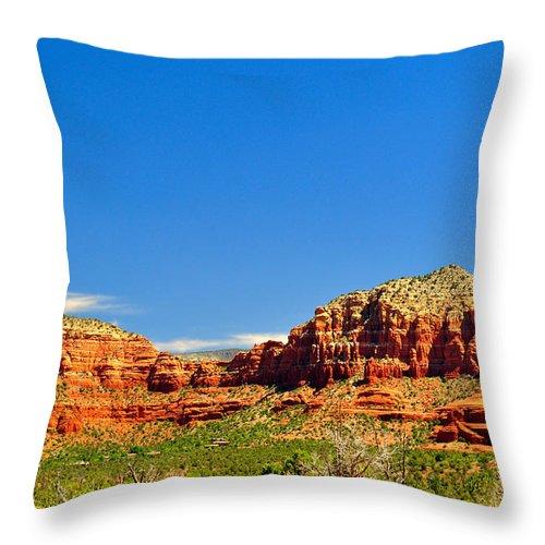 Tranquility Throw Pillow featuring the photograph Sedona Arizona by Thomas Shockey