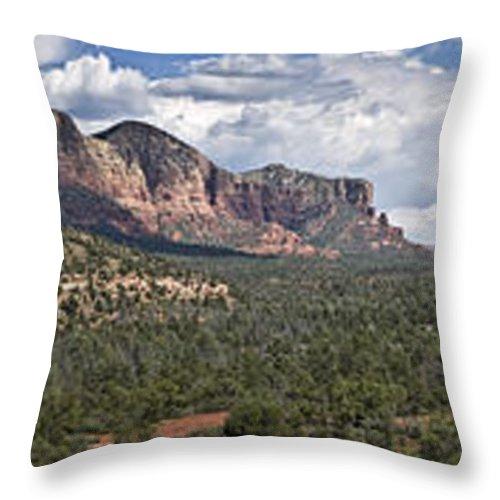 Sedona Throw Pillow featuring the photograph Sedona Panorama by Paul Riedinger