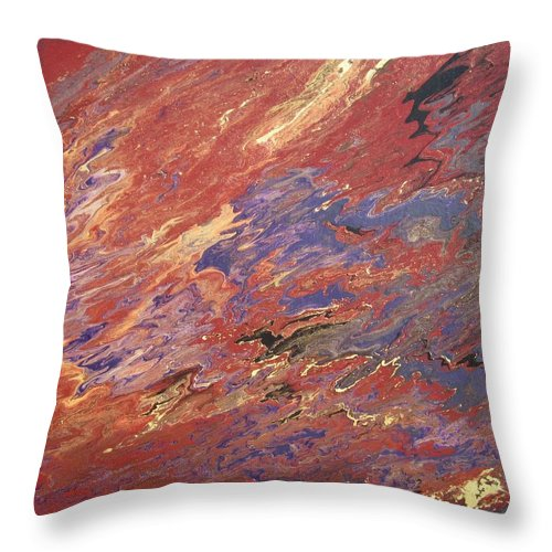 Fusionart Throw Pillow featuring the painting Sedona by Ralph White