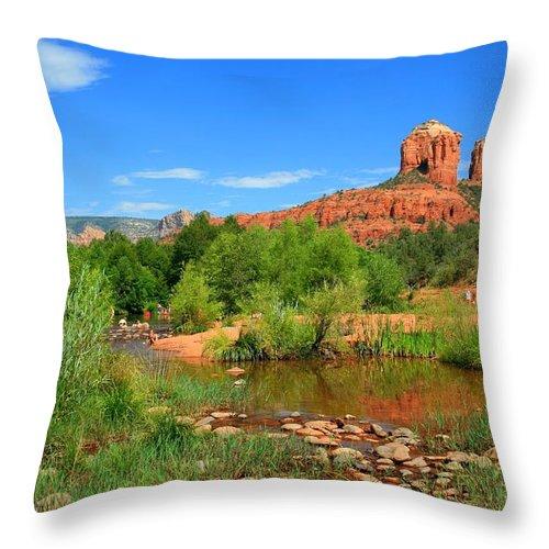 Arizona Throw Pillow featuring the photograph Sedona Summer by Miles Stites