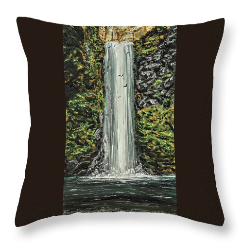 Landscape Throw Pillow featuring the painting See You On The Other Side by Joel Tesch
