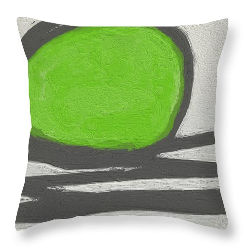 Abstract Throw Pillow featuring the painting Seed by Linda Woods